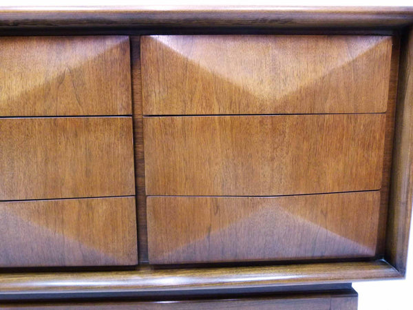 Diamond-Front Walnut Dresser by United 8