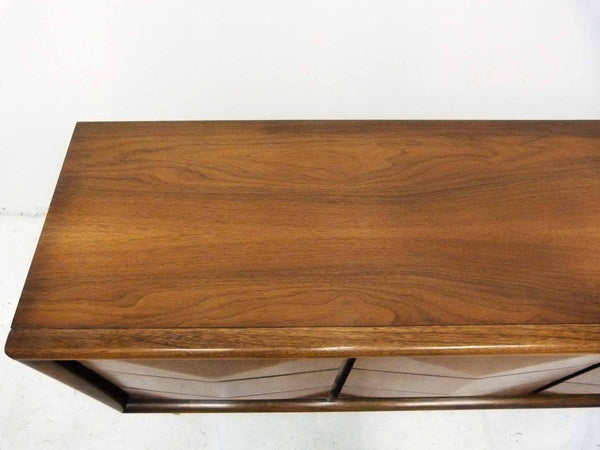 Diamond-Front Walnut Dresser by United 9
