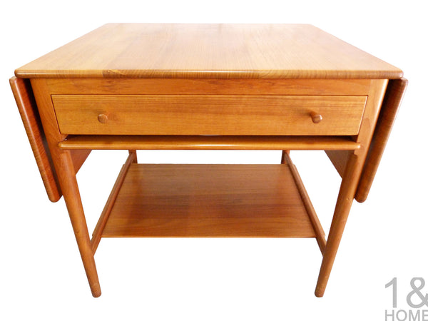 Danish Modern sewing table Hans Wegner Andreas Tuck Model AT-33 img 2