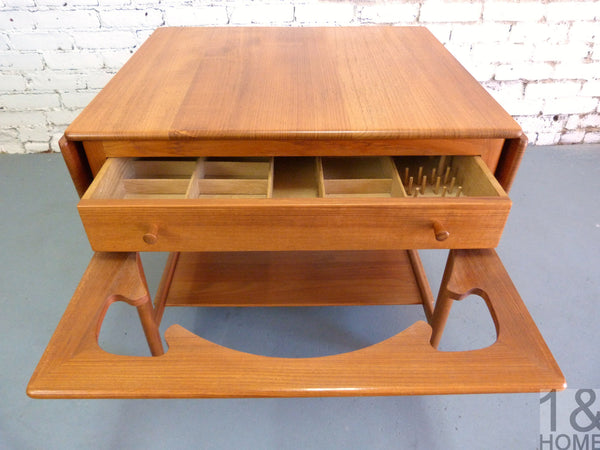 Danish Modern sewing table Hans Wegner Andreas Tuck Model AT-33 img 5