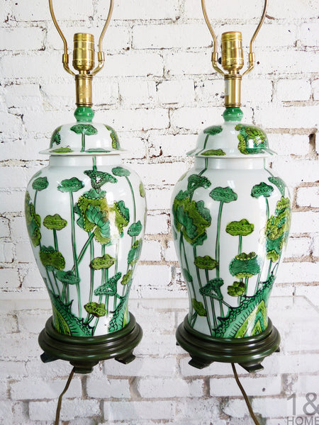Chinoiserie Table Lamps by Marbro, Pair
