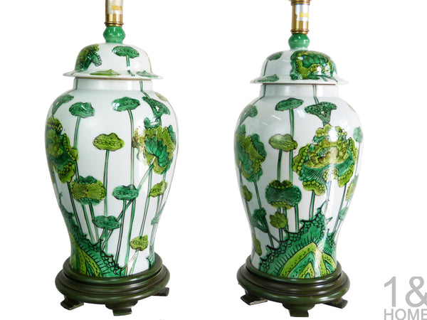 Hand Painted Chinoiserie Table Lamps by Marbro Lamp Company