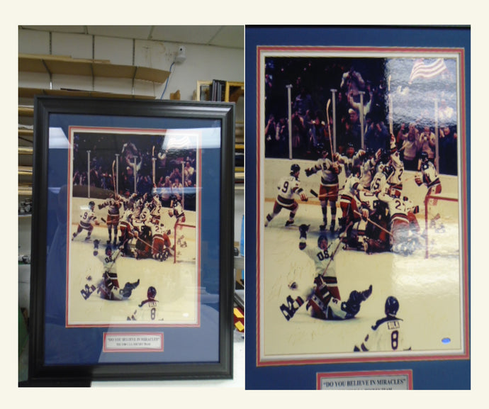Beware of Framing from Sports Sellers and Framers not Familiar with Museum Quality Framing