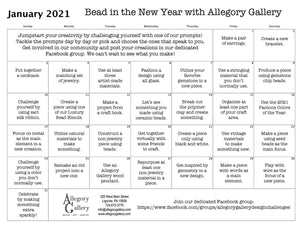 "Announcing ""Bead in the New Year 2021"" by Allegory Gallery!"