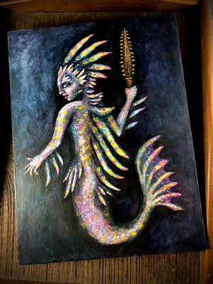 Original Paintings by Andrew Thornton for #MerMay