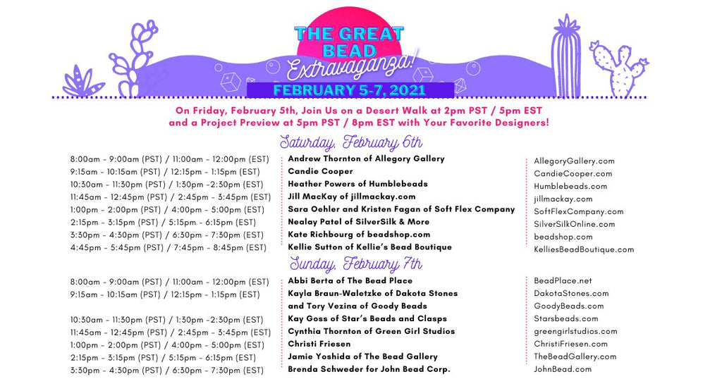 The Great Bead Extravaganza Tucson Experience Schedule