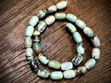 Terra Agate 8x12mm Barrel Beads