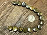 Bronzite 12mm Coin Beads