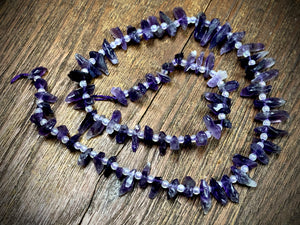 Amethyst 10-20mm Top Drilled Rough Chip Beads