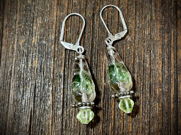Vintage Czech Glass Earrings