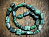 Ruby in Zoisite Medium Nugget Beads