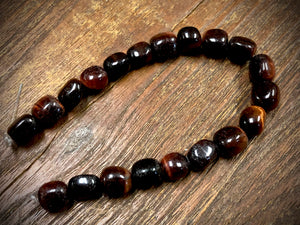 Red Tiger Eye 8x10mm Nugget Beads