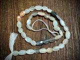 Multi-Moonstone 7x5mm-10x7mm Hand-Cut Faceted Puffed Oval Beads
