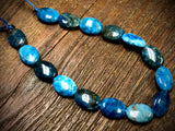 Blue Apatite 10x14 Oval Beads