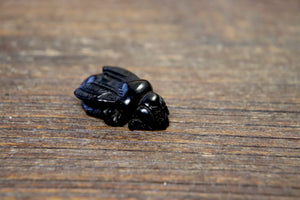Hand-Carved Jet Bee Bead #4