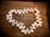 Rose Quartz 13x18mm Faceted Top Drill Teardrop Beads