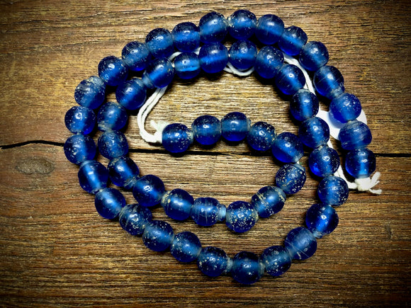 Java Glass Beads—Blue