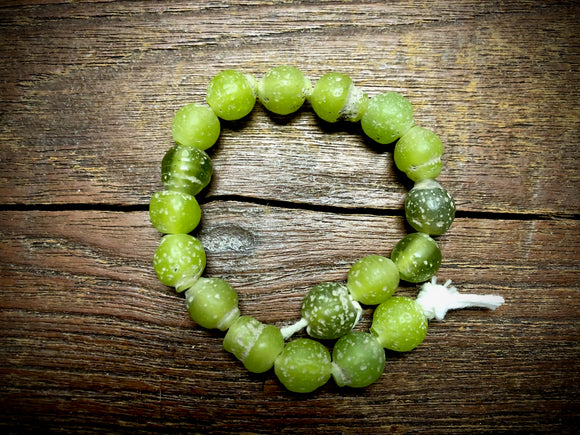Java Glass Beads—Lime Green