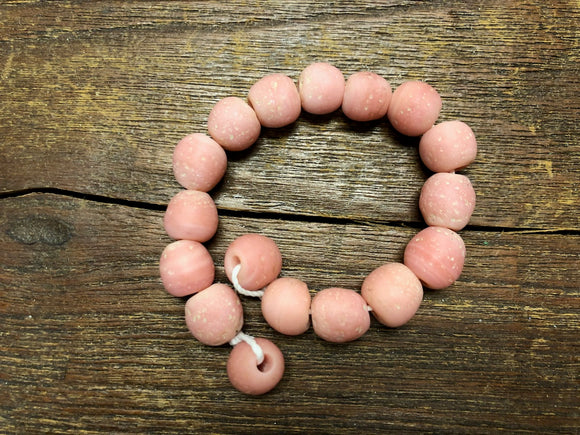 Java Glass Beads—Pink