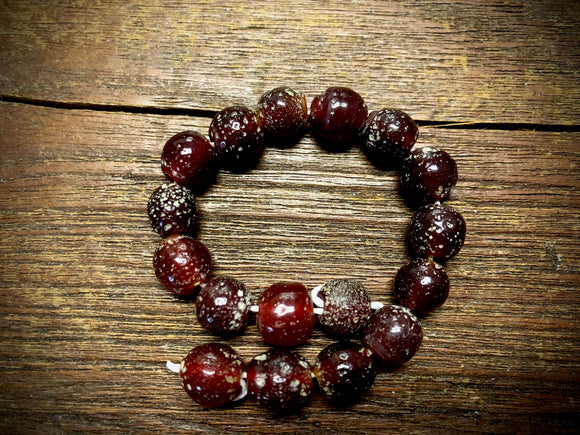 Java Glass Beads—Maroon