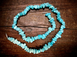 Amazonite 7x15mm Chip Beads