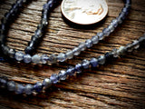 Iolite 3mm Faceted Round Beads