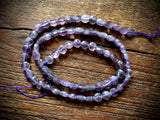 Amethyst 6mm Faceted Coin Beads