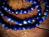 Lapis Lazuli 6x7mm Faceted Coin Beads