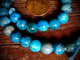 Blue Crazy Lace Agate 8mm Large Hole Round Beads