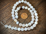 White Spotted Agate 8mm Round Beads