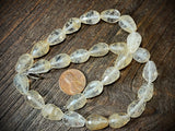 Rutilated Quartz 10mm x 14mm Faceted Drop Beads