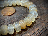 Rutilated Quartz 6mm x 10mm Faceted Rondelle Beads