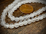 White Quartz 5mm-6mm Round Beads