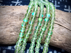 Mermaid Glass (Manmade Moonstone) 10mm Round Beads