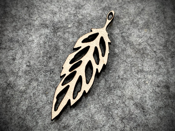 Leather Pendant—Feather