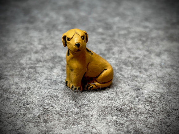 Peruvian Ceramic Bead—Yellow Labrador