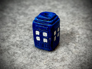 Peruvian Ceramic Bead—Police Box