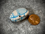 Peruvian Ceramic Bead—Light Blue Scarab