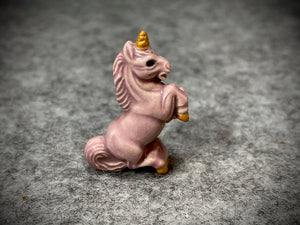 Peruvian Ceramic Bead—Light Purple Unicorn