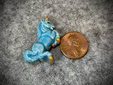 Peruvian Ceramic Bead—Light Blue Unicorn