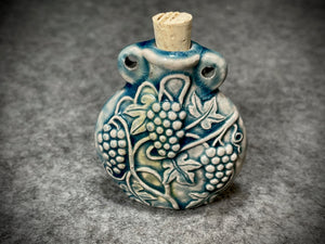 Peruvian Ceramic Vessel—Raku Grape Vines