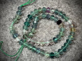 Fluorite 8mm Faceted Rondelle Beads