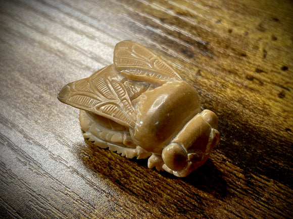 Hand-Carved Vegan Ivory (Palm Nut) Bee Pendant/Bead #3