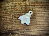 Hand-Carved Mother of Pearl/Shell Bee Charm #5