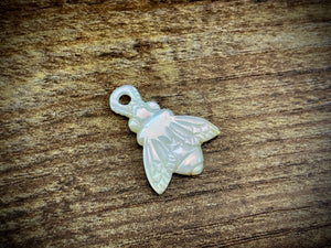 Hand-Carved Mother of Pearl/Shell Bee Charm #7