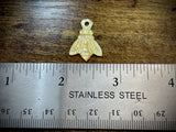 Hand-Carved Mother of Pearl/Shell Bee Charm #11