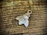 Hand-Carved Mother of Pearl/Shell Bee Charm #15