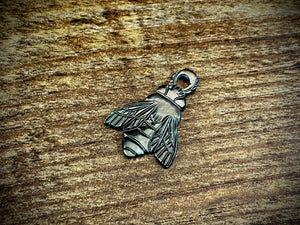 Hand-Carved Mother of Pearl/Shell Bee Charm #19