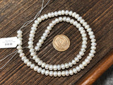 Small Ringed White Vintage Freshwater Pearls