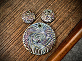 Marsha Neal Studio Charm and Pendant Set—Windswept—Purple Nebula
